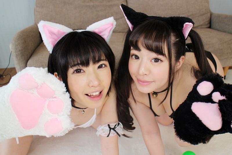 【VR】新感覚!初めての猫ミミカフェ! 飛びきりカワイイネコミミ少女達に大量中出し!桃尻かのん 皆月ひかるScreenshot