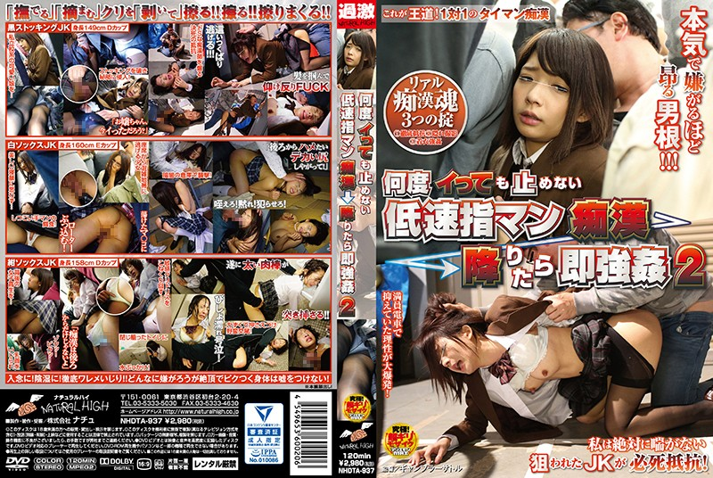 NHDTA-937 Slow Finger Man Molester → When You Get Off Immediately Rape 2 That Does Not Stop Even If Many Times Say